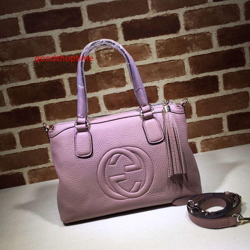 2020 Top-Qualität Markendesign Brief Prägung Tassel Einkaufstasche Tasche Frauen-echtes Leder 308362 XL Handtasche