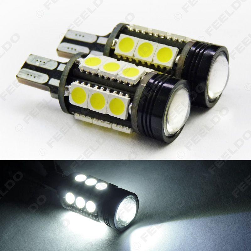 2pcs Super White T15 7.5W 5050 15LED COB Wedge Car LED Light Bulb Backup Lamp #3292