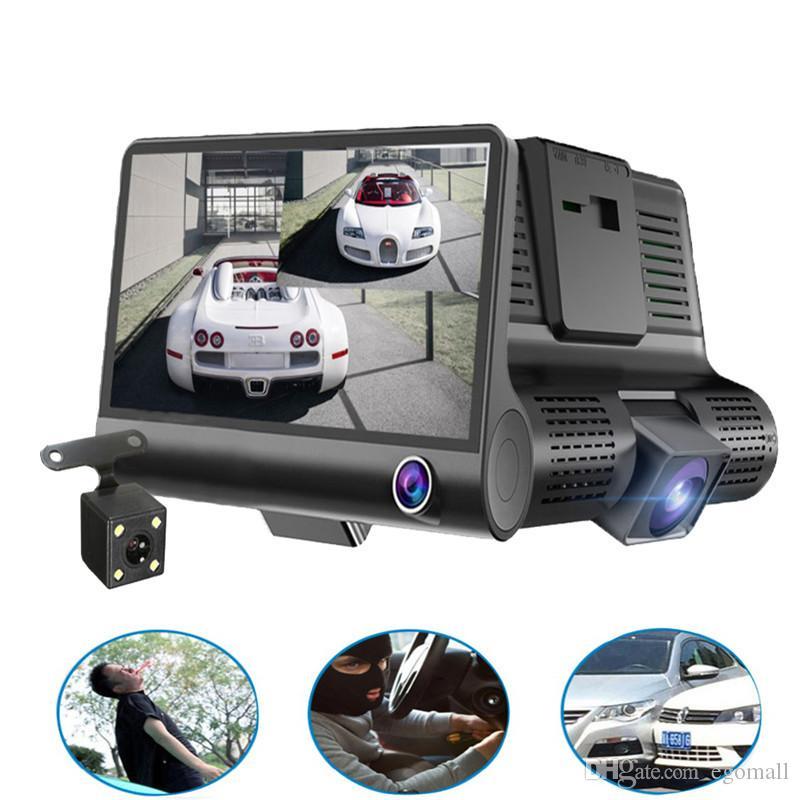 Original 4'' Car DVR Camera Video Recorder Rear View Auto Registrator ith Two Cameras Dash Cam DVRS Dual Lens