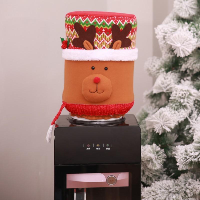 Boire Seau Cartoon Bonhomme de neige housse de protection de Noël Accueil Décorations Père Noël Elk Barrel Distributeur d'eau Couverture Accueil Mise en page