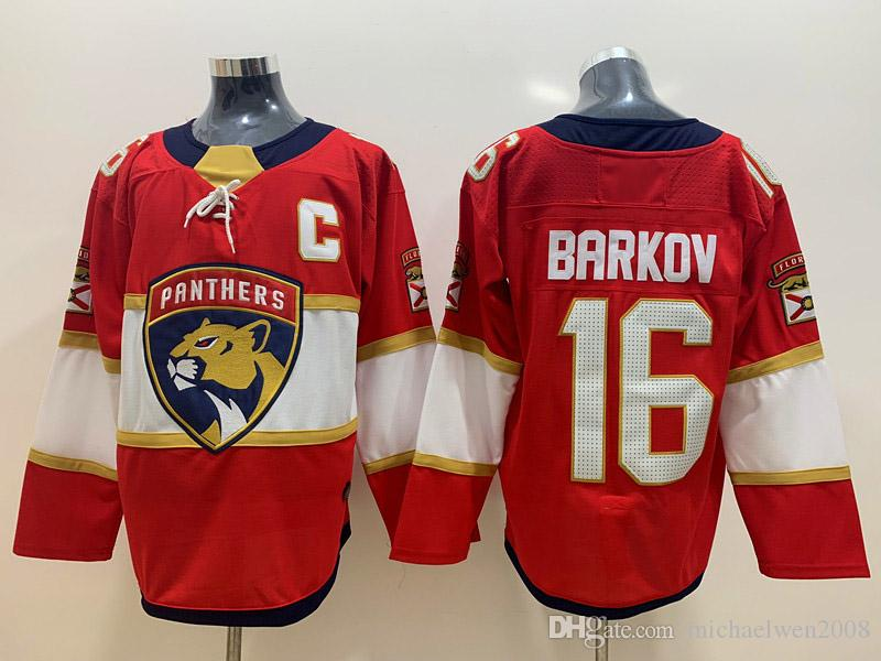 New Season Florida Panthers Jersey16 Aleksander Barkov 1 Roberto Luongo 5 Aaron Ekblad Blank Ice Hockey Jersey Cheap