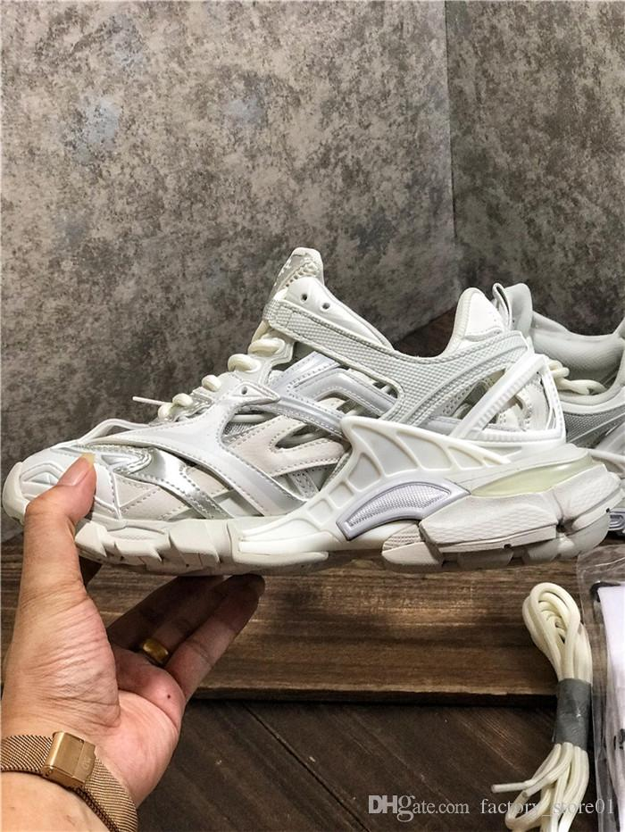 2020 Luxury Designer Men Women Casual Shoes Track 2 Sneakers 19FW white track2 lace-up Jogging sneakers 3M Triple S Hiking Chaussures