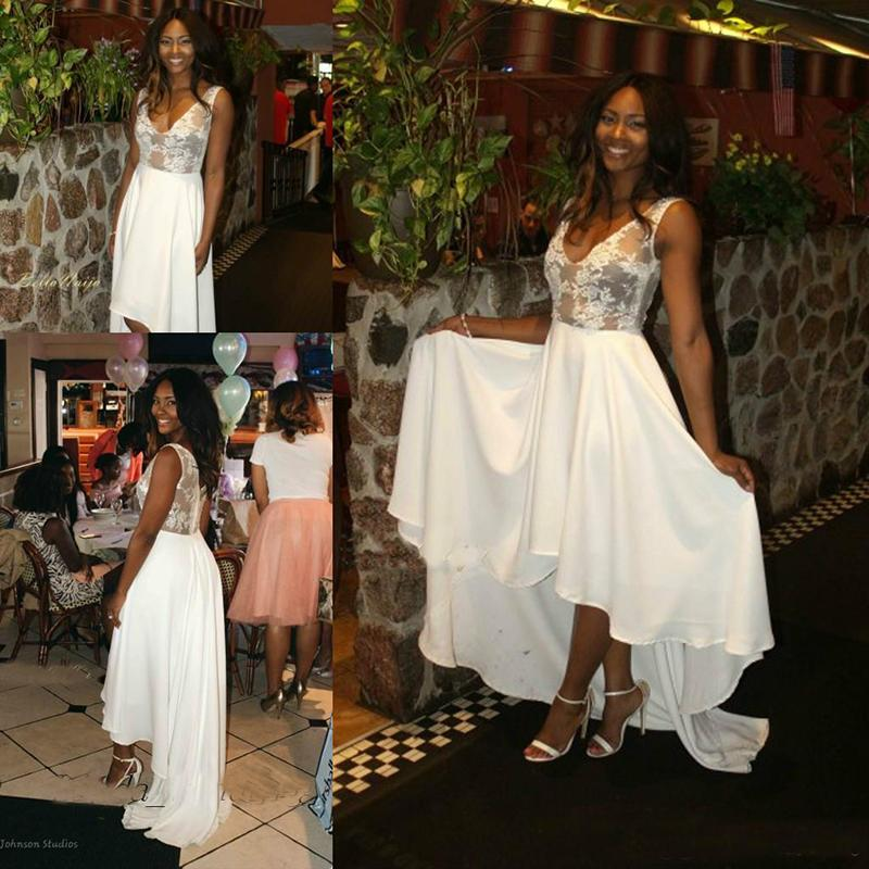 Partido Osas Ighodaro Bastante boda viste la nueva llegada de la alta gasa baja Bridal Show formal de la boda Vestidos