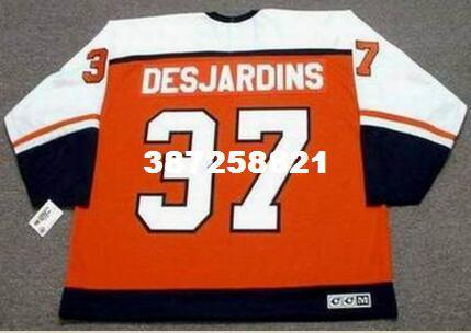size 40 f4a3a d53da 2019 Mens #37 ERIC DESJARDINS Philadelphia Flyers 1997 CCM Vintage RETRO  Home Hockey Jersey Or Custom Any Name Or Number Retro Jersey From  C20182604, ...