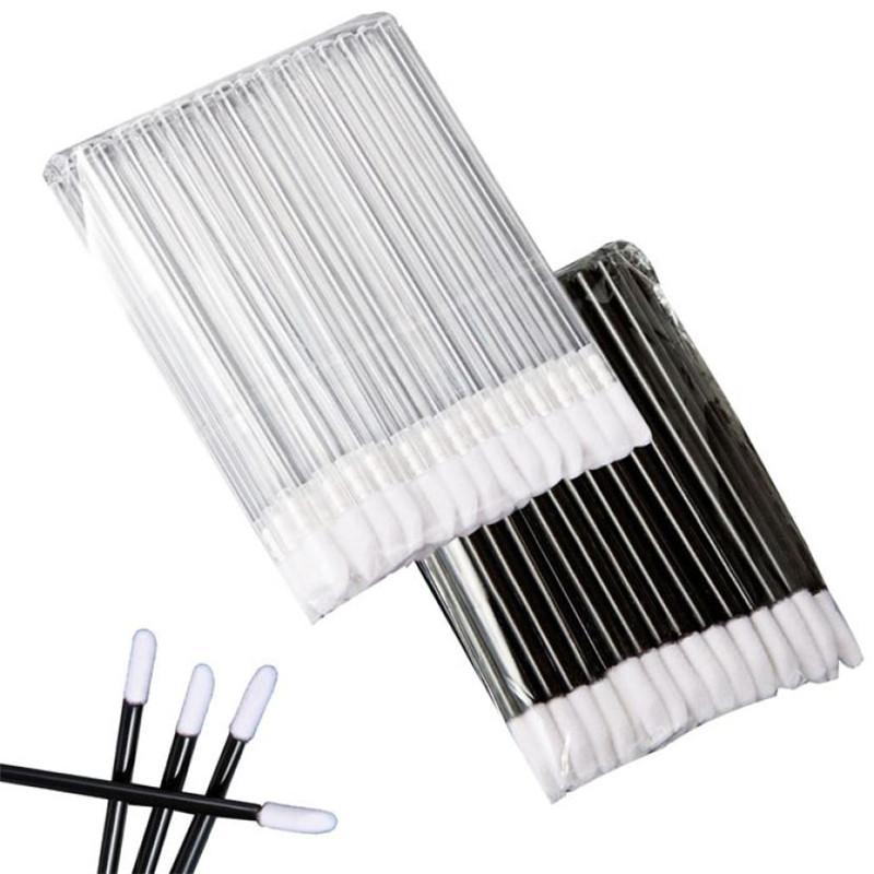 50pcs Compo escovas definir maquillage rímel varinhas Lip pincel caneta cleaner cílios maquiagem descartável aplicadores de escova