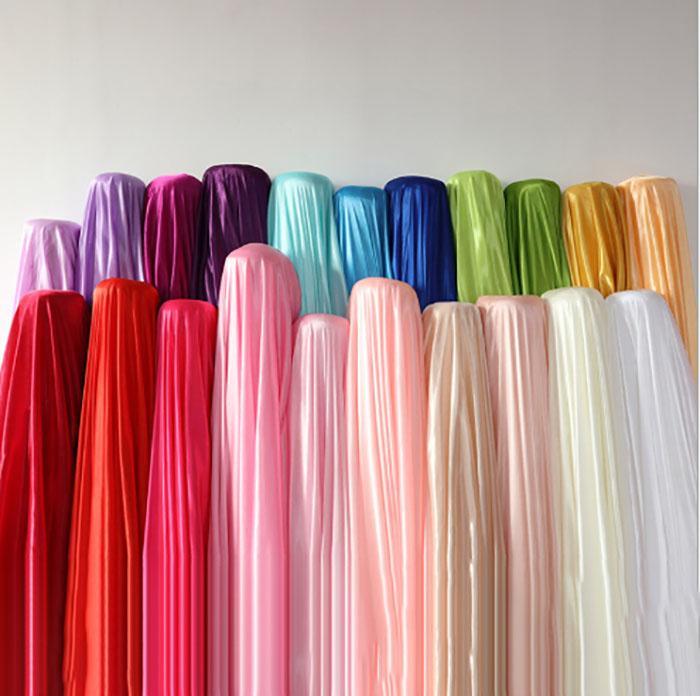 1. 5 M زفاف الخلفية مرحلة الديكور الحريري عرض النسيج الحريري ملابس أداء لون قماش صلب