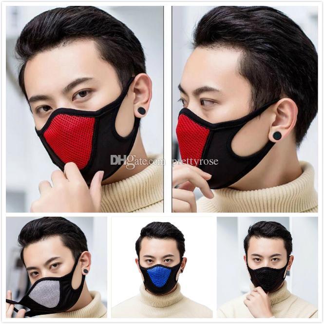 Koruyucu Yüz Maskesi Yetişkin toz geçirmez Kapak Maskeler Tam Yeniden kullanılabilir Maskeleri Anti Toz Nefes Respiratörü Ücretsiz Gemi Elastik Popüler