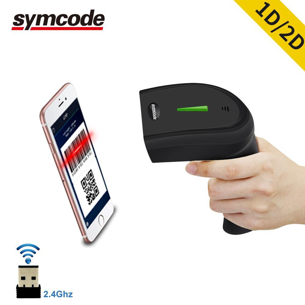 2d Wireless Barcdeo Scanner, 30-100 metros de distancia de transferencia, 16m de espacio de almacenamiento, decodificación Qr Code, pdf-417, matriz de datos T8190622