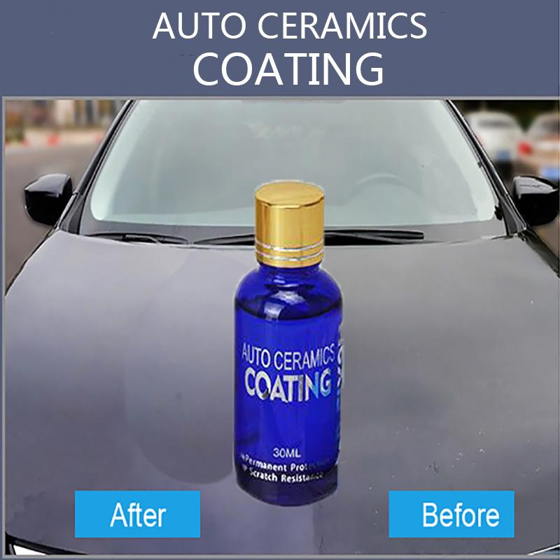 30ml Car Liquid Ceramic Coat Super Hydrophobic Glass Coating Set Polysiloxane Materials Car Polish Auto Glasscoat 9H