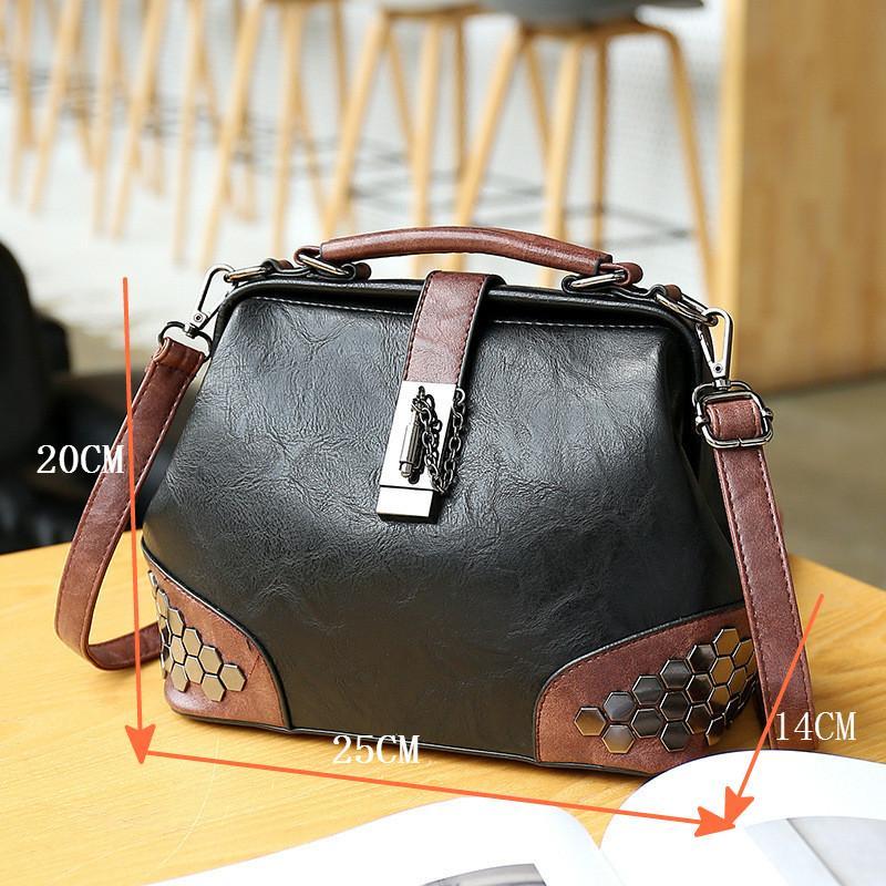 sacos de moda do desenhador das mulheres famosas em ações novas bolsas Senhoras das mulheres coreanas bloquear rebites ombro bolsas