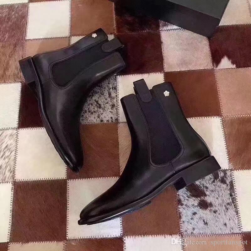 2020 Camellia Designer Boots-Plattform echte Lady Leder Laureate Platform Frauen High Heel High Cut Low-Cut-Stiefel Designer-Schuhe Mode