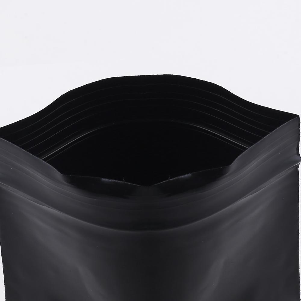 8x12cm (3.25x4.75in) 100pcs New Poly Ethylène plat Pouch thermoscellage Noir Petit Zip de verrouillage en plastique Sacs Herb stockage