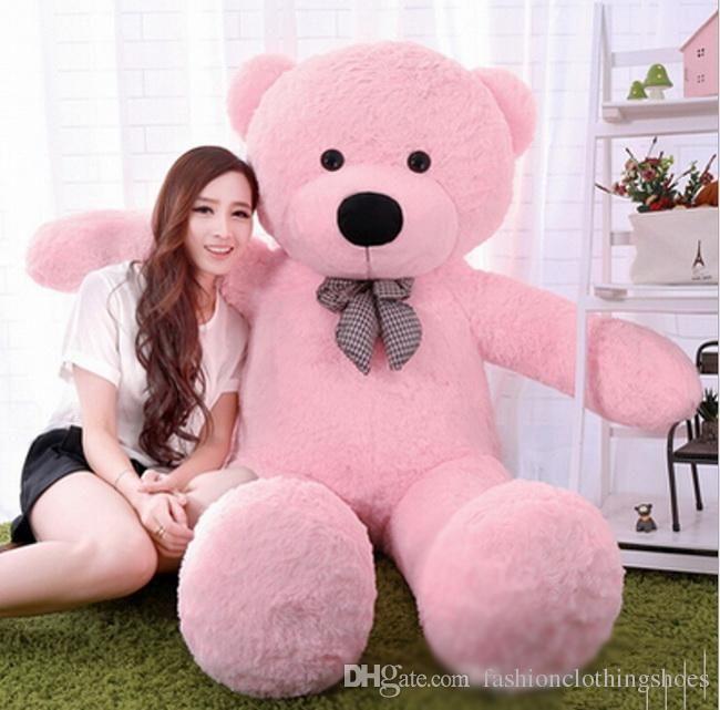 "6 FEET BIG TEDDY BEAR STUFFED 4 Colors GIANT JUMBO 72"" size:180cm Embrace Bear Doll lovers/christmas/ birthday gift"