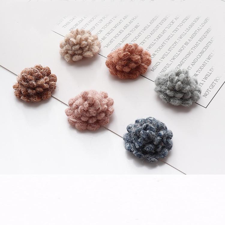 30 piezas 25mm estilo dulce flores peinadas conectores encanto diy accesorios de joyería hechos a mano