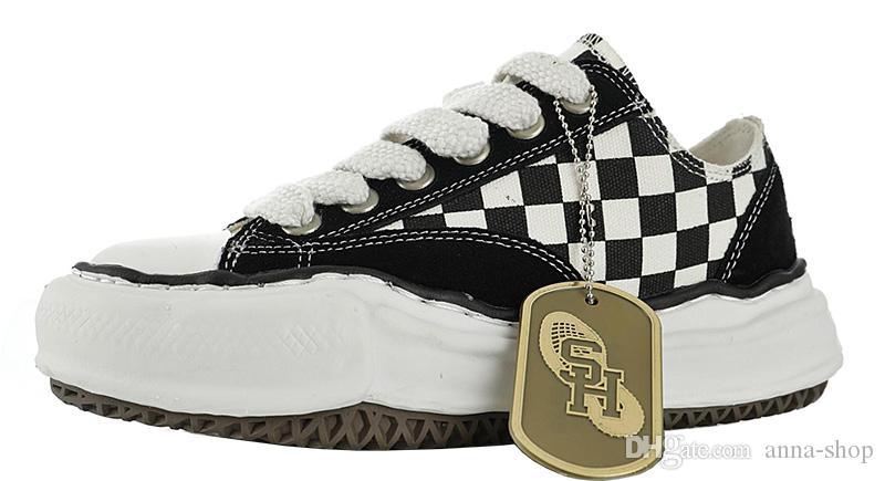 Бренд Mens Nigel Cabourn Холст обувь для мужчин Maison Mihara Yasuhiro Sneaker Man Оригинальные Подошва Скейт Мужской Дизайнер Женская Платформа Женский