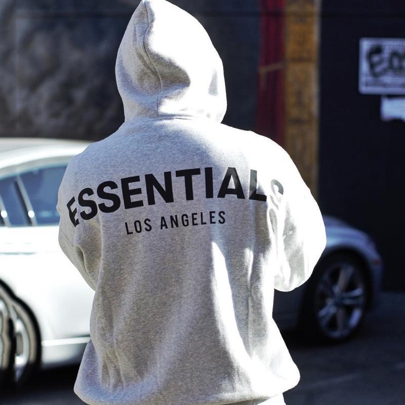 9FW FOG Furcht Gottes Essentials-3M Reflective Hoodie Los Angeles Sweatshirt Männer Frauen Pullover Herbst-Winter-Strickjacke-Straße Outwear HFYMWY318