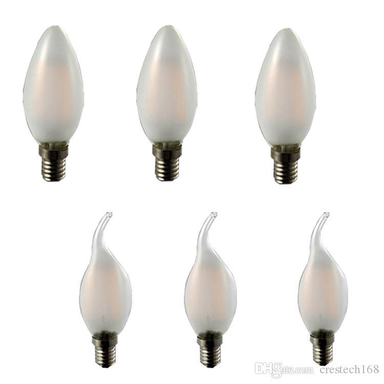 Dim Lamba 110 V 220 V 2 W 4 W 6 W LED Filament Chip E14 Edison Mum Ampul Retro Tungsten Avize Aydınlatma Crestech