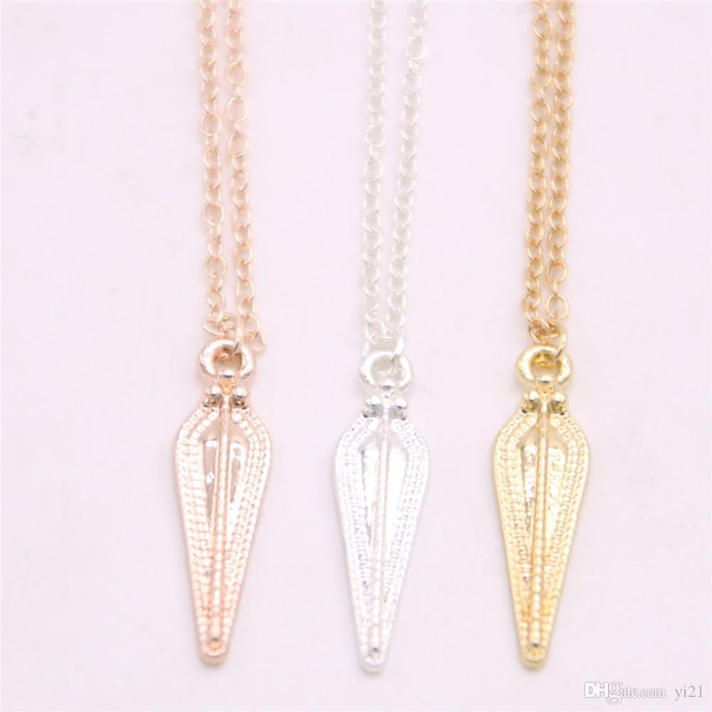 Metal material American film style pendant necklace sceptre pendant necklace designed for women
