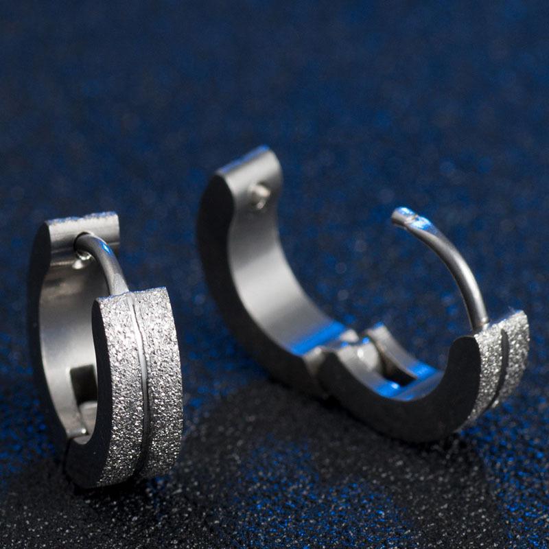 316L Médica Titanium Aço Hipoalergênico Ear Clips Moda Masculina Esfregar Brincos Mulher Brinco Moda Jóias Unisex