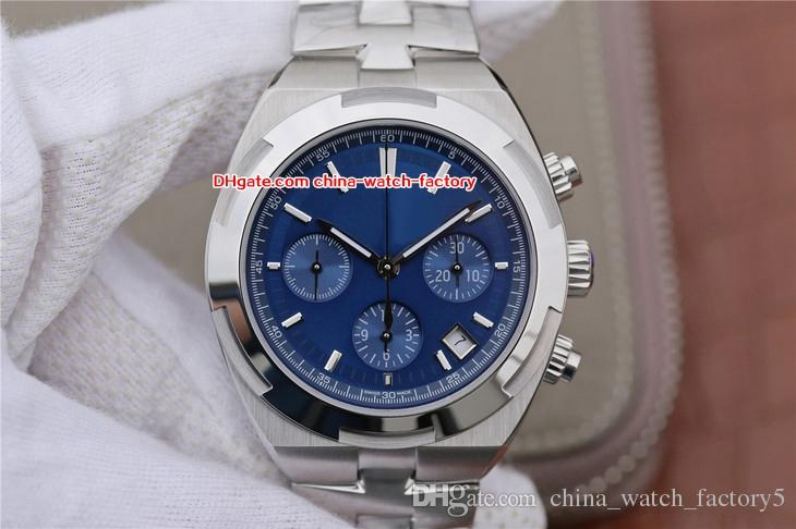8 Style Perfect Quality Top Factory 42mm Overseas 5500V / 110A-B148 Chronograph 28800bph Swiss ETA 7750 Movement Automatic Mens Watch Watches