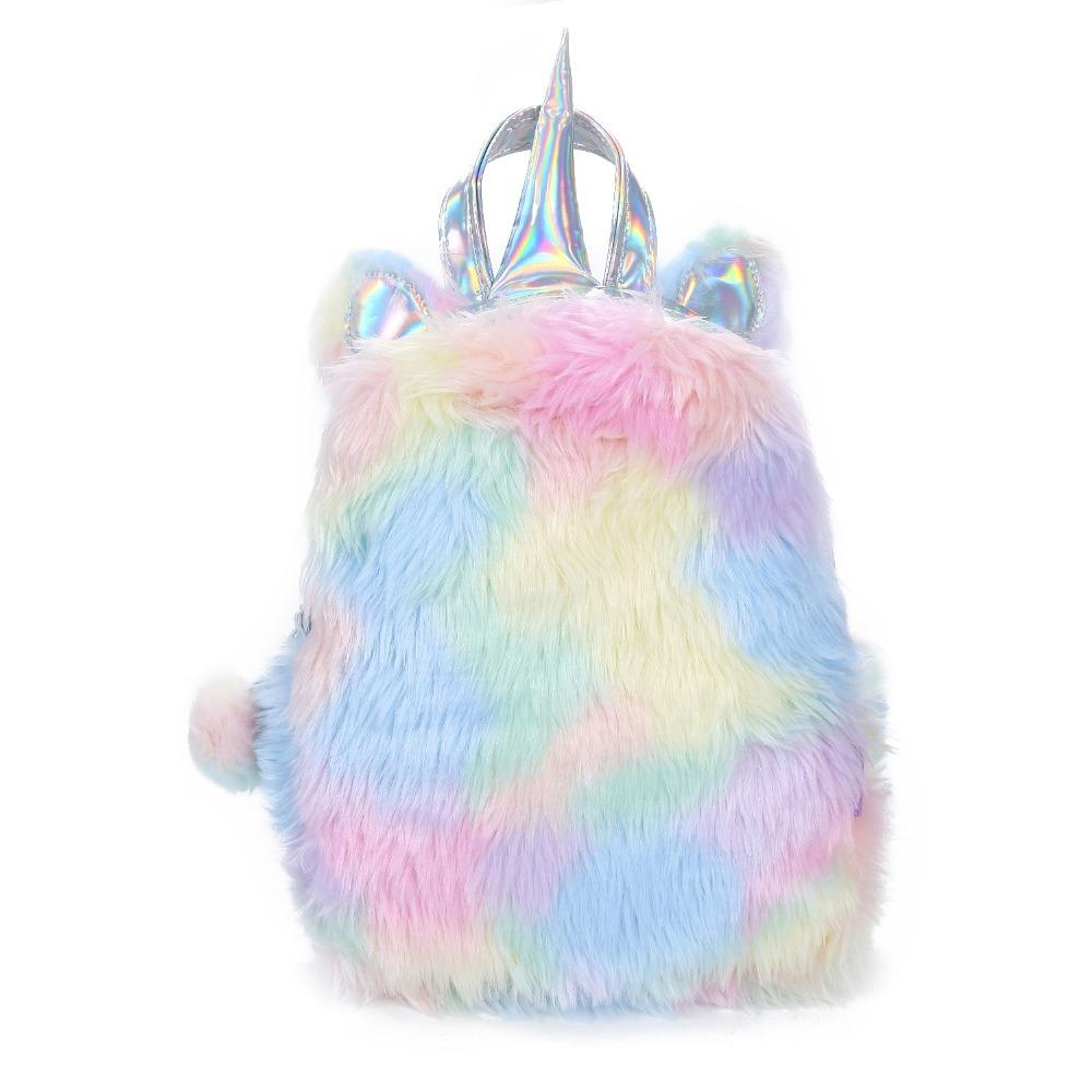 New Fashion Unicorn Women Zaini Cartoon Kawaii Bagpacks Leather Hologram Women Girls School Bags Zaino in pelle Mochila