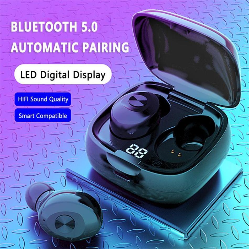 العرض الرقمية XG-8 TWS سماعات بلوتوث 5.0 لاسلكية سماعة في الأذن للرياضة منخفض الإختفاء صوت ستيريو حر اليدين الدعوة