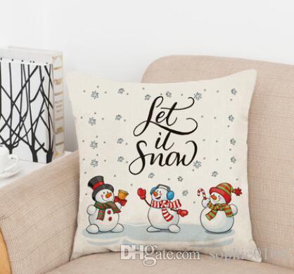 Weihnachtsstile Baumwolle Flachs Kissenbezug Auto Sofa Kissen Sham Sessel für Wohn- / Arbeits- / Esszimmer Schlafzimmer Hotel SDP 037