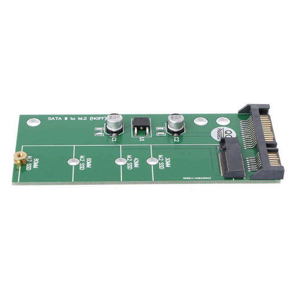 M.2 Ngff için SATA3 Sabit Disk Adaptörü Kart Kararlı / Yüksek Hızlı Ngff Katı Hal Sürücüsü için 2.5 Sata Akıllı Uyumluluk