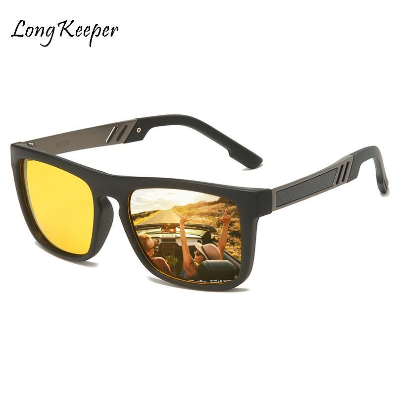 Sunglasses Polarized Night Vision Glasses Men Oculos Driver Yellow Driving Sun Glasses Eyewear Gogggles TR90 Square gafas
