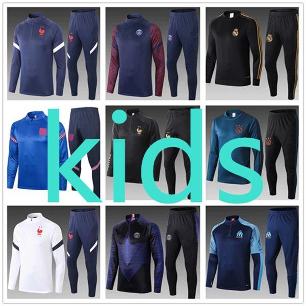 psg kids 2021 tracksuit jordan training retro kids designer clothes boys football soccer spain ajax liverpool  juventus real madrid  olympique de marseille France fc barcelona