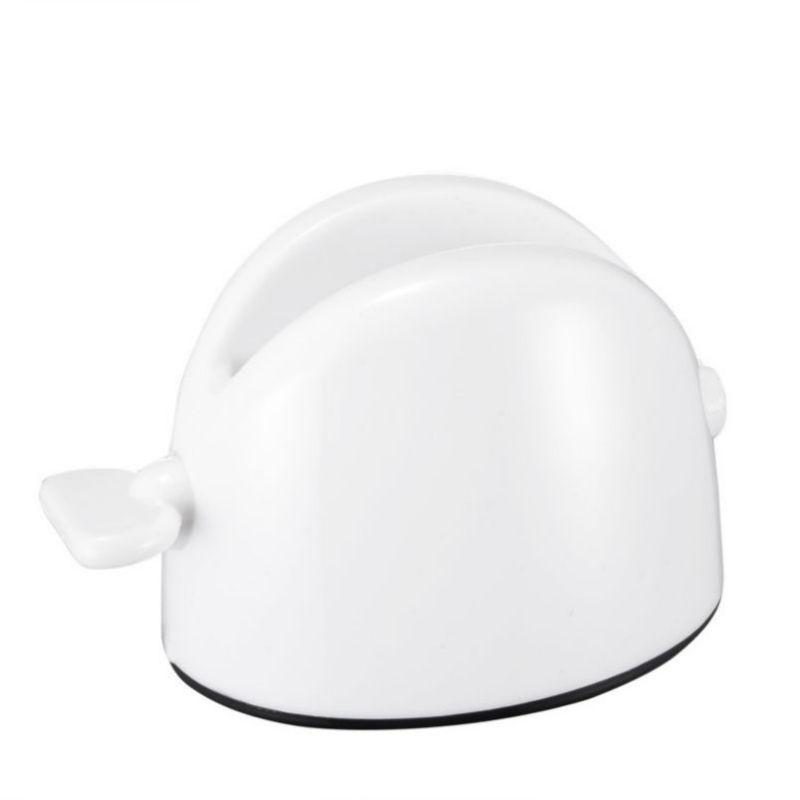 Nueva Rojo Blanco tubo de crema dental exprimidor de balanceo exprimidor fácil de dientes Dispensador portátil Pegar porta accesorios de baño Conjuntos