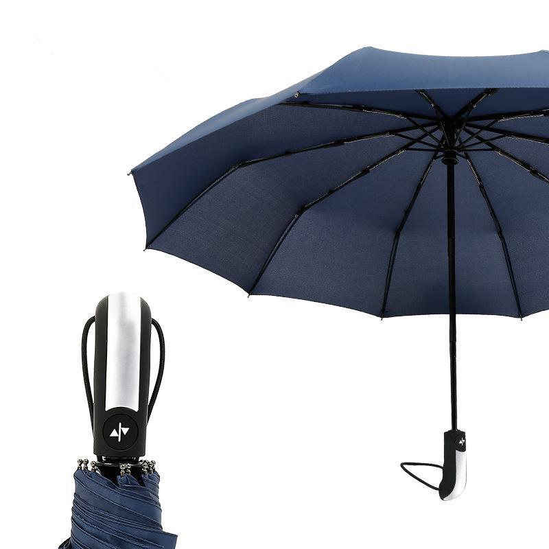Large Windproof Umbrella 16 Bone Umbrella Stand Straight Rod Oversized 1-2 People Use Long Handle Umbrella Color : B