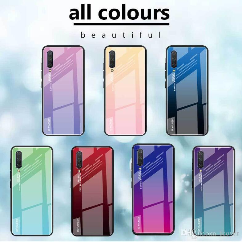 Para Xiaomi Mi 9 SE / redmi 7 / redmi Nota 7 / redmi K20 Pro / Mi T9 caixa de vidro temperado tampa do telefone Pro colorido