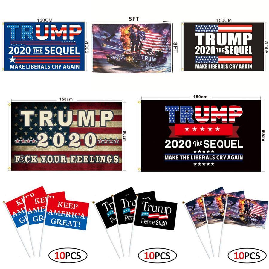 Bandeira Trump 90 * 150 centímetros 55 Styles Biden Bernie Donald Trump 2020 Flags Tanque americano Eleição presidencial Trump mão OOA8102