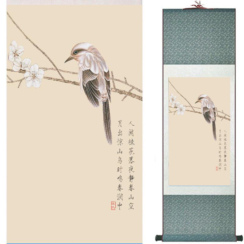 Birds And Flower Art Painting Home Office Decoration Chinese Scroll Painting Birds Painting Tx122105