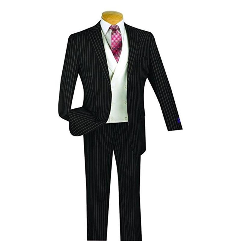 Alta Qualidade Men Suits Notch lapela melhor homem tarja preta Noivo Smoking de casamento / prom 3 peças (jaqueta + calça + Vest + empate) E144