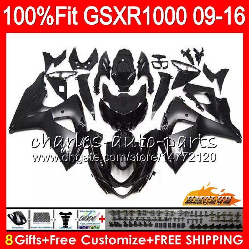 Injection For SUZUKI GSXR 1000 GSXR-1000 09 10 11 2009 2010 2011 16HC.108 K9 GSXR1000 12 13 15 16 2012 2014 2015 2016 Fairings factory black