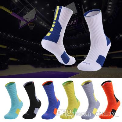 sport épaississement du tube de basket-ball d'élite mi haute qualité mens fond de serviette de l'équipe chaussettes pour les fabricants de garçon de vente à chaud