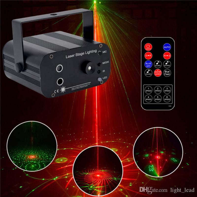 48 Pattern Laser Projector Remote/Sound Controll LED Disco Light RGB DJ Party Stage Light Christmas Lamp Decoration