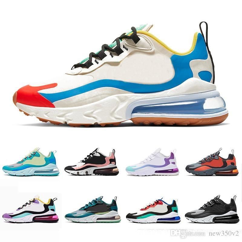 2020 Bauhaus 270 Reaccionar Calzado Hombres Mujeres Desinger zapatillas de deporte corrientes Triple Negro Blanco Gris JDI ecuestre marca de diseño Formadores Racer