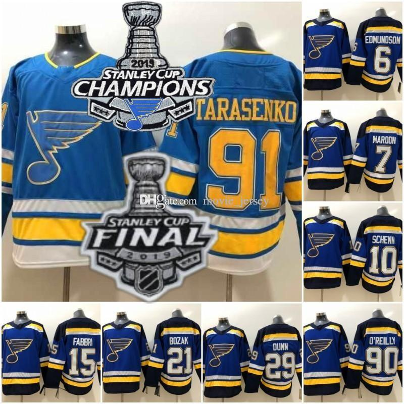 2019 Campeones de la Copa Stanley St. Louis Blues 91 Tarasenko 90 O'Reilly 7 Granate 17 Schwartz 10 Schenn 15 Fabbri 6 Edmundson Backes 21 Bozak