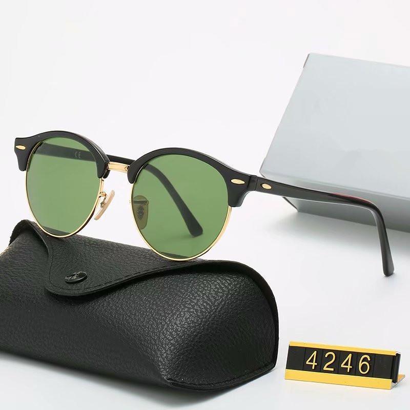 2020 فاخر إطار الاستقطاب النظارات الشمسية الرجال النساء الطيار النظارات الشمسية UV400 نظارات سائق المعدنية زجاج عدسة بولارويد مع مربع