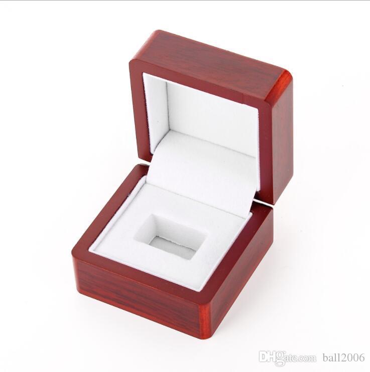 Caixa de presente de madeira do anel do campeão da jóia do jacarandá