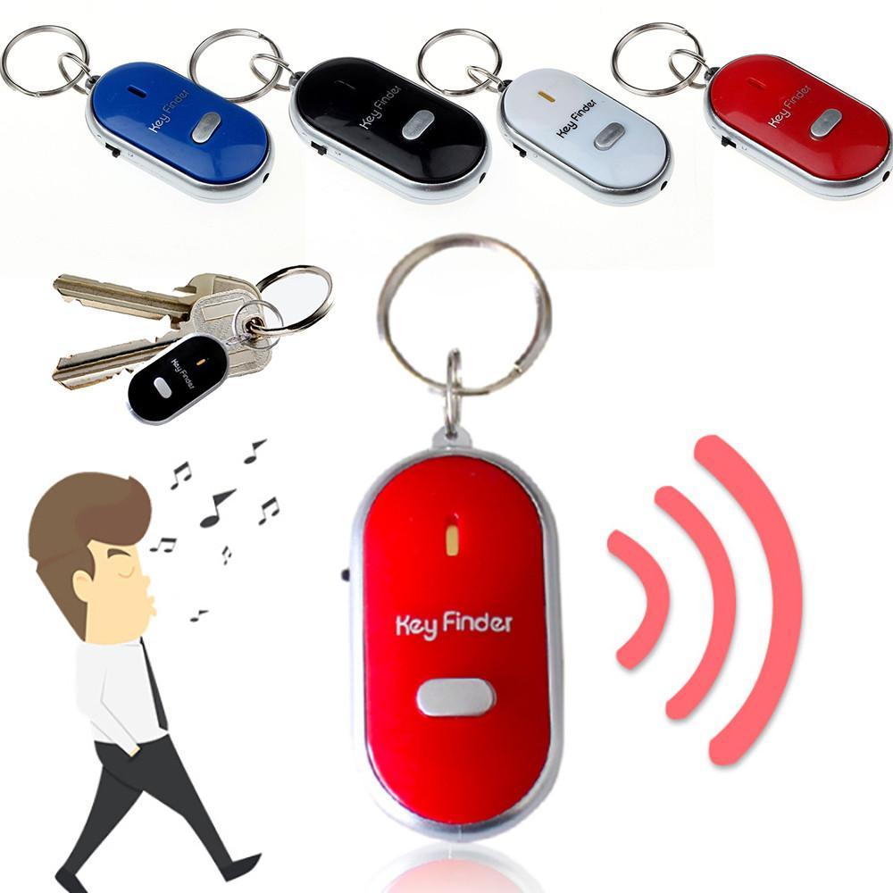 LED-Licht-Fackel Fern Sound Control Verlorene Keyfinder Fob Alarm Locator Keychain Lichter Whistle Finder Alter Anti-verloren Alarm Key Finder