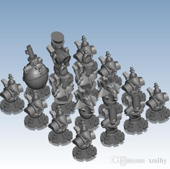 Steampunk Chess Custom order highqualityhighprecision digital models 3D printing service for innovation ST134