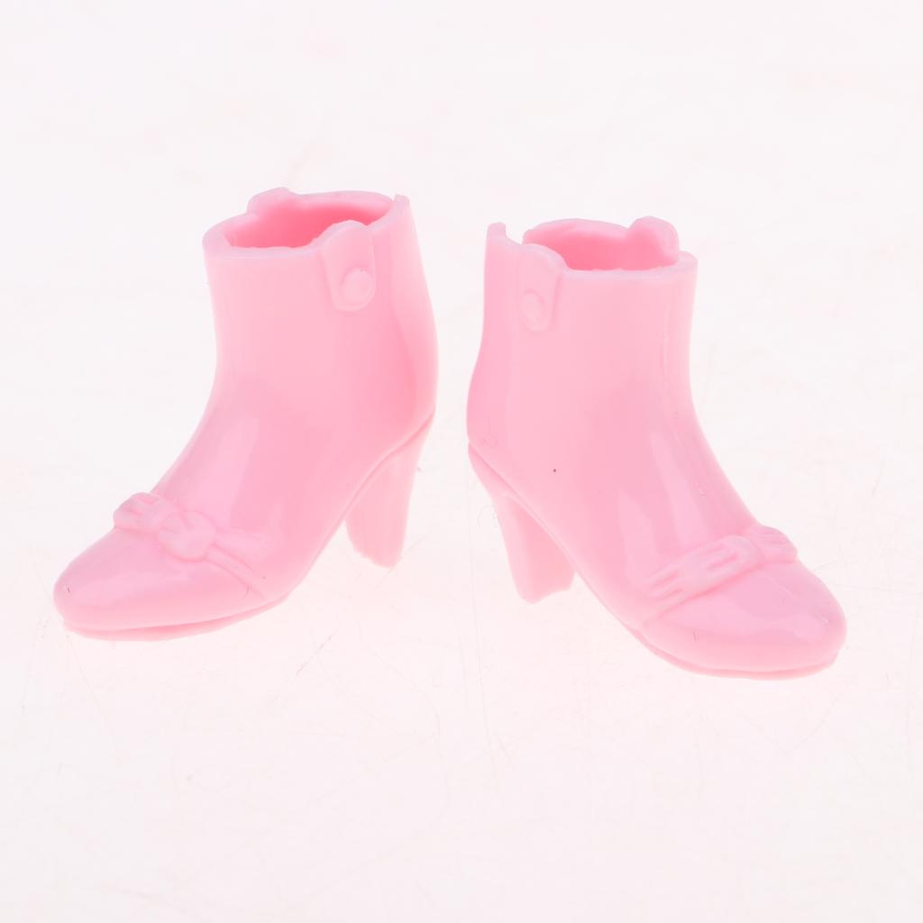 Cute 1//6 Dolls Dress and High Heel Boot Shoes for Blythe Outfits Accessory