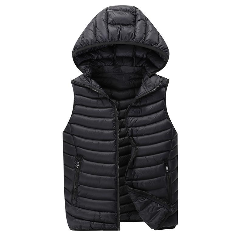 Chaleco de hombre chaleco chaleco chaqueta de sábanas sin mangas con capucha con capucha con capucha con capucha para hombres casual otoño invierno chaleco
