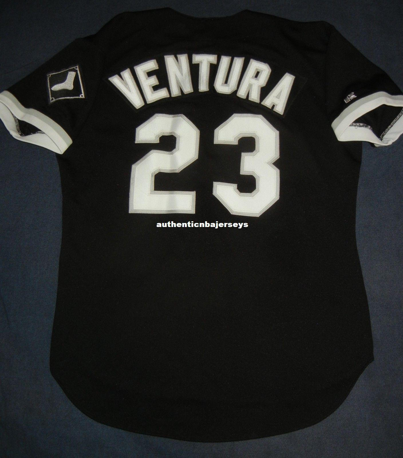Rétro pas cher # 23 ROBIN VENTURA Top Russell Athletic CHICAGO Noir Jersey 44 Hommes Maillots de Baseball Cousus