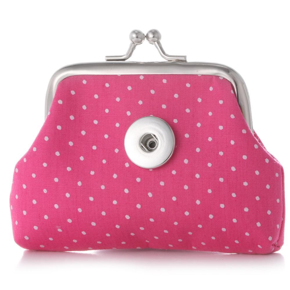 Hediyesi için yeni Geliş 18MM çekin Düğmeler Sikke Çantalar Dot Nokta Küçük Cüzdan Kılıfı Çocuk Kız Kadın Para Sahipleri Çantaları