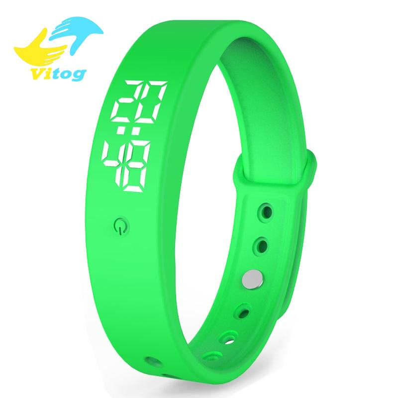 Vitog v9 Children man women Smart Bracelet LED Watch Sleeping Pedometer Vibration Sports Smartbracelet Smart Wristband for Student Kids Gift